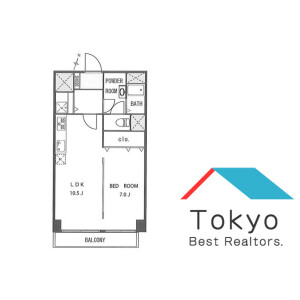 1LDK Mansion in Nampeidaicho - Shibuya-ku Floorplan