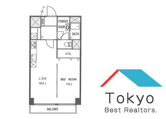 在澀谷區內租賃1LDK 公寓大廈 的房產 房間格局