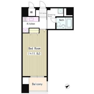 1R Mansion in Kaigan(3-chome) - Minato-ku Floorplan