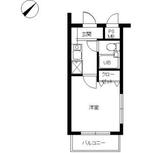 1R Mansion in Miyazaki - Kawasaki-shi Miyamae-ku Floorplan