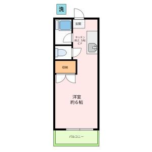 1K Apartment in Asagayaminami - Suginami-ku Floorplan