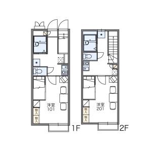 1K Apartment in Takehanacho kitsuneana - Hashima-shi Floorplan