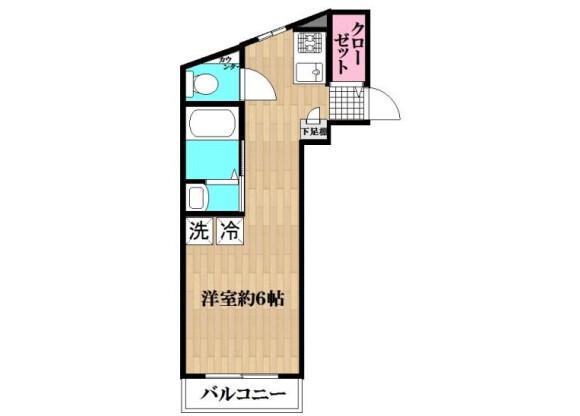 在葛飾區內租賃1R 公寓大廈 的房產 房間格局