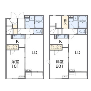 1LDK Apartment in Maekamicho - Kawaguchi-shi Floorplan