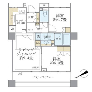 2LDK Mansion in Komagome - Toshima-ku Floorplan