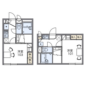 1K Apartment in Fujimidai - Kunitachi-shi Floorplan
