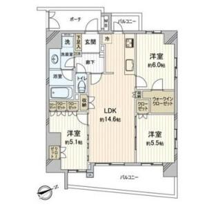 3LDK {building type} in Katase kaigan - Fujisawa-shi Floorplan