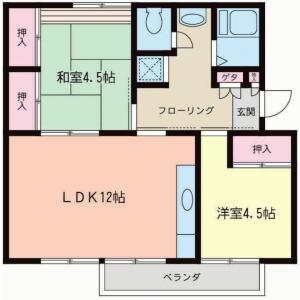2LDK {building type} in Shimoasao - Kawasaki-shi Asao-ku Floorplan