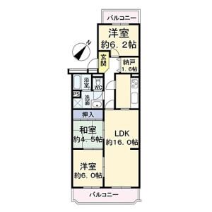 3SLDK {building type} in Tsukuda - Osaka-shi Nishiyodogawa-ku Floorplan