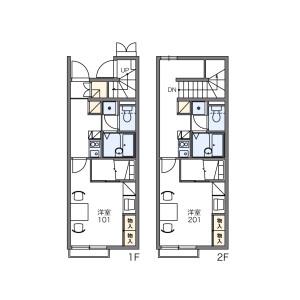 1K Apartment in Kasahata - Kawagoe-shi Floorplan
