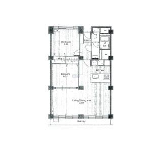 2LDK {building type} in Roppongi - Minato-ku Floorplan