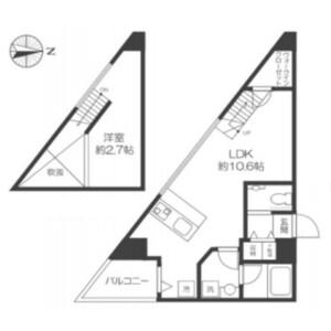 1LDK Mansion in Eifuku - Suginami-ku Floorplan