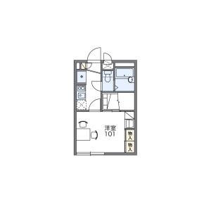 1K Apartment in Nishicho - Kashiwa-shi Floorplan