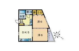 2DK Apartment in Maidashi - Fukuoka-shi Higashi-ku