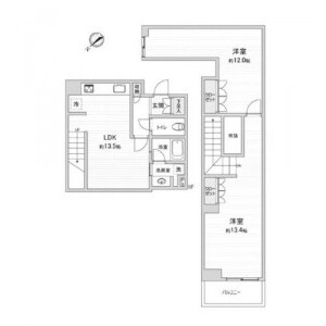 1LDK {building type} in Nakameguro - Meguro-ku Floorplan