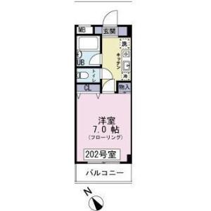 1K Mansion in Sagamiono - Sagamihara-shi Minami-ku Floorplan