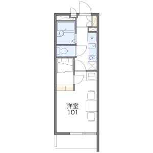 大阪市生野区林寺-1K公寓大厦 楼层布局