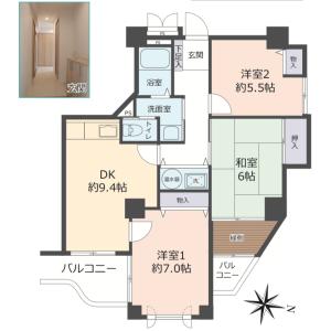 3DK {building type} in Senriyama takezono - Suita-shi Floorplan
