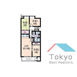 3LDK Mansion in Wada - Suginami-ku Floorplan