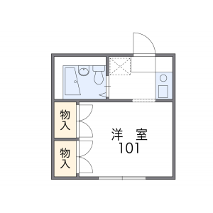 1K Apartment in Kamiuma - Setagaya-ku Floorplan