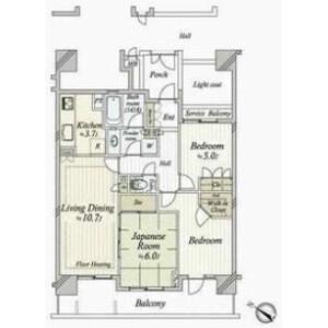 3LDK Apartment in Tomigaya - Shibuya-ku Floorplan