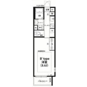 習志野市大久保-1K公寓大厦 楼层布局