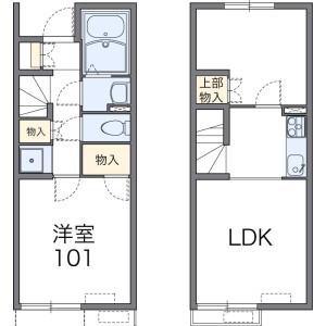 2LDK Apartment in Higashiyama - Kaizuka-shi Floorplan