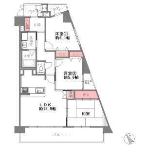 3LDK {building type} in Senriyama nishi - Suita-shi Floorplan