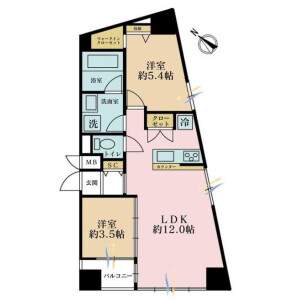 2LDK Apartment in Osaki - Shinagawa-ku Floorplan
