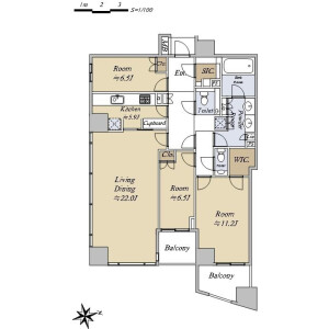 3SLDK {building type} in Mita - Minato-ku Floorplan