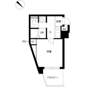 1K Mansion in Honkomagome - Bunkyo-ku Floorplan