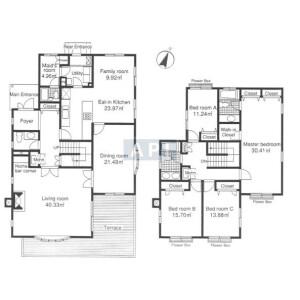 4SLDK House in Denenchofu - Ota-ku Floorplan