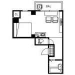 1R Mansion in Ebisunocho - Kyoto-shi Shimogyo-ku Floorplan