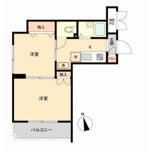 2K {building type} in Chiyoda - Sagamihara-shi Chuo-ku Floorplan