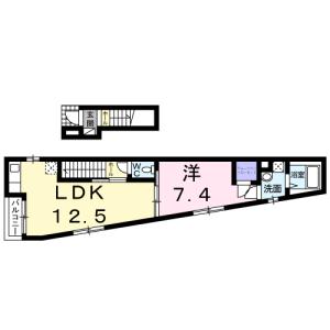 1LDK Apartment in Wakamiya - Nakano-ku Floorplan