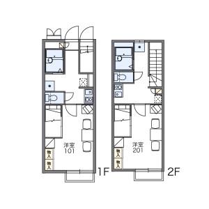 1K Apartment in Tokura - Kokubunji-shi Floorplan