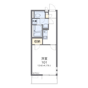 1K Apartment in Oka - Asaka-shi Floorplan