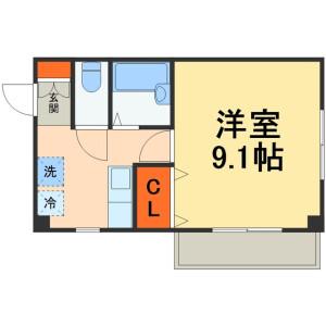 1K Mansion in Miyama - Funabashi-shi Floorplan