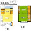 2DK House to Buy in Kyoto-shi Kamigyo-ku Floorplan
