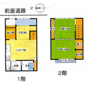 2DK {building type} in Sankencho - Kyoto-shi Kamigyo-ku Floorplan
