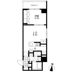 1LDK Mansion in Taihei - Sumida-ku Floorplan