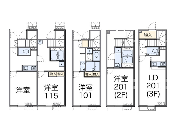 1K Apartment to Rent in Itabashi-ku Floorplan