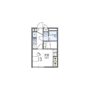 1K Apartment in Kikuna - Yokohama-shi Kohoku-ku Floorplan