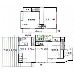 3LDK House in Uraga - Yokosuka-shi Floorplan