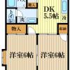 2DK Apartment to Rent in Akishima-shi Floorplan