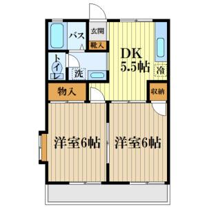 2DK Apartment in Ogamicho - Akishima-shi Floorplan