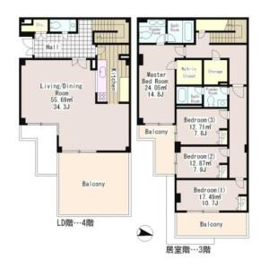 4LDK Mansion in Seta - Setagaya-ku Floorplan