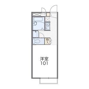 1K Mansion in Kariyado - Kawasaki-shi Nakahara-ku Floorplan