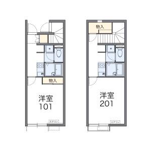 1K Apartment in Ushidatori - Nagoya-shi Nakamura-ku Floorplan
