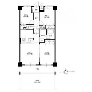 3LDK Apartment in Kashiwacho - Yokohama-shi Asahi-ku Floorplan